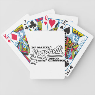 DJ MAXXI SPAGHETTI DISCO CLASSICS BICYCLE PLAYING CARDS