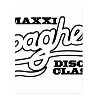 DJ MAXXI SPAGHETTI DISCO CLASSICS POSTCARD