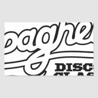 DJ MAXXI SPAGHETTI DISCO CLASSICS RECTANGULAR STICKER