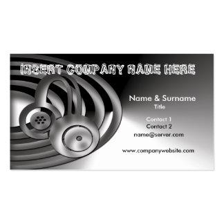 DJ, mixing, sound business cards