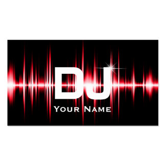 DJ Modern Red Beats Professional Deejay Music Pack Of Standard Business Cards