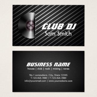DJ Modern Stylish Turntable Vinyl Recoder Mixer Business Card