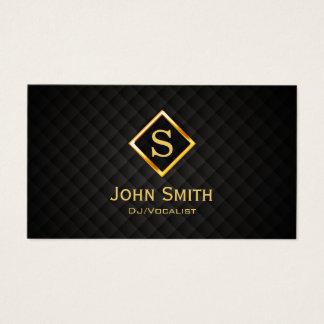 DJ Music Gold Diamond Monogram Deejay Business Card