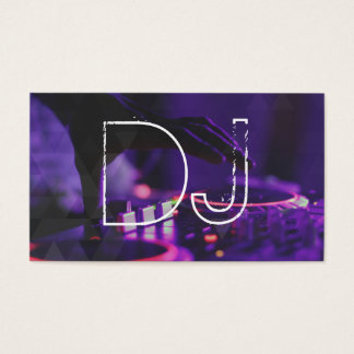 DJ Music Party Event Turntable Modern Business Card