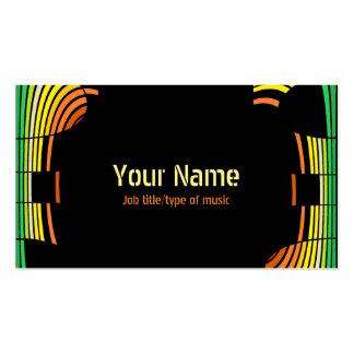 DJ music production musician card equilizer Pack Of Standard Business Cards