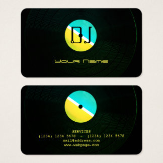 Dj music professional production cover business card