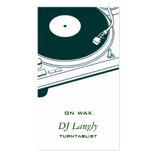 DJ / Music / Turntable Pack Of Standard Business Cards