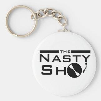 Dj Nasty Sho Basic Round Button Key Ring
