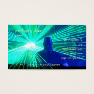 DJ on the decks in nightclub / bar Business Card