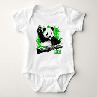 DJ Panda (vintage distressed look) Baby Bodysuit