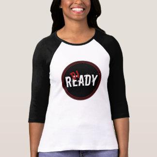 DJ Ready  Ladies 3/4 Sleeve Raglan (Fitted), White T-shirts