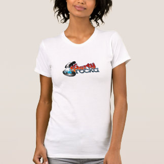 DJ Reality Show Party Rocka womens tee's T-shirts