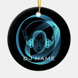 DJ ROUND CERAMIC DECORATION