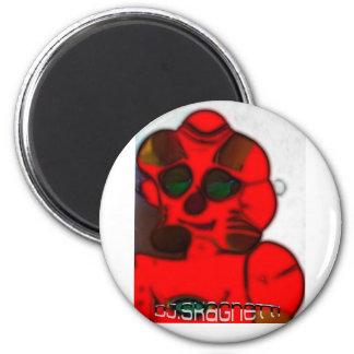 DJ.SK Deformed Robot 6 Cm Round Magnet