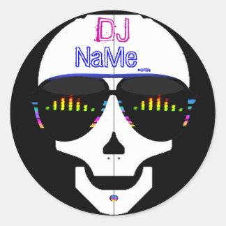 Dj Skull - Add Your Name Classic Round Sticker