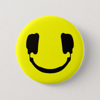 DJ smiley 6 Cm Round Badge