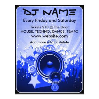 DJ Speaker Music Flyer(Blue) Flyer