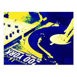 DJ spinning vinyl 3 Postcard