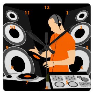 DJ Spinning Vinyl At Decks Clock