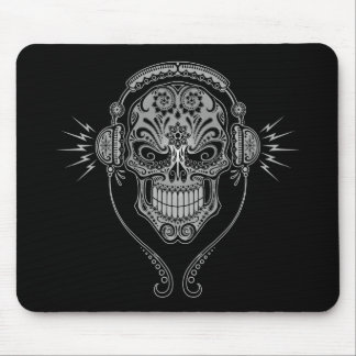 DJ Sugar Skull – Black Mouse Pad