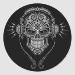 DJ Sugar Skull – Black Stickers
