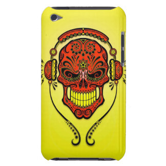 DJ Sugar Skull – Yellow and Red Barely There iPod Cases