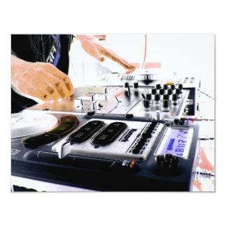 DJ SYSTEM 11 CM X 14 CM INVITATION CARD