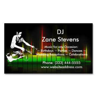 DJ Turntable Business Card Magnet Magnetic Business Cards (Pack Of 25)