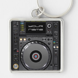 Dj turntable keychain