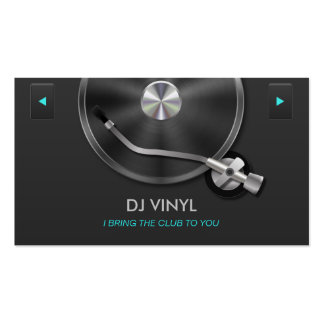 DJ Turntable Music Modern Clean Gray & Silver Pack Of Standard Business Cards