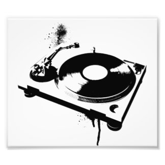 DJ Turntable Photo Print
