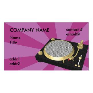 DJ turntable purple starburst Business Card Templates