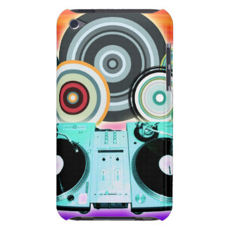 DJ Turntable with Vinyl - Pop Art Barely There iPod Cases