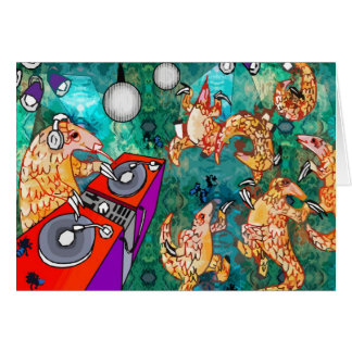 DJ Turntablist Pangolin Card