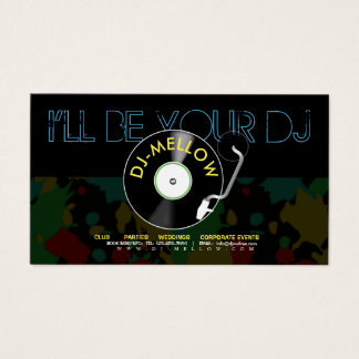 DJ Vinyl Turntable Business Card