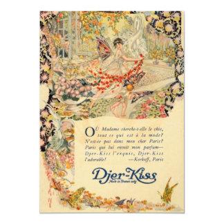Djer Kiss French Perfume Label 13 Cm X 18 Cm Invitation Card
