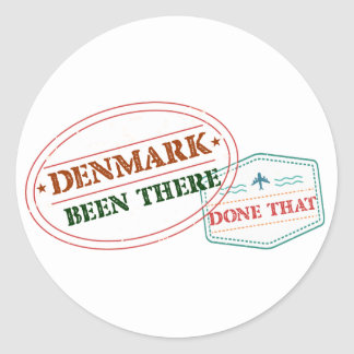 Djibouti Been There Done That Classic Round Sticker