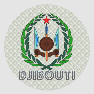 Djibouti Coat of Arms Classic Round Sticker