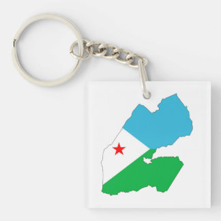 djibouti country flag map shape silhouette symbol key ring