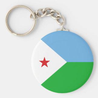 Djibouti Flag Key Ring