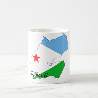 Djibouti flag map mug