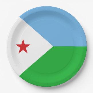 Djibouti Flag Paper Plate