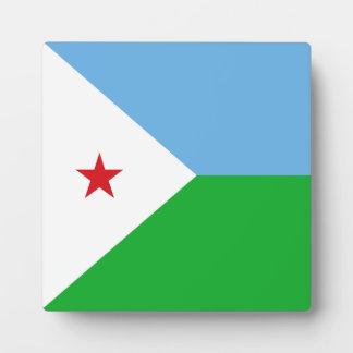 Djibouti Flag Plaque