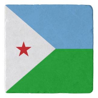 Djibouti Flag Trivet
