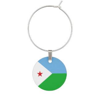 Djibouti Flag Wine Charm