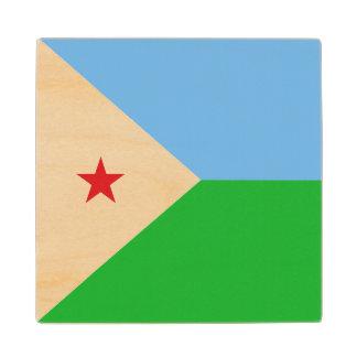 Djibouti Flag Wood Coaster
