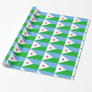 Djibouti Flag Wrapping Paper