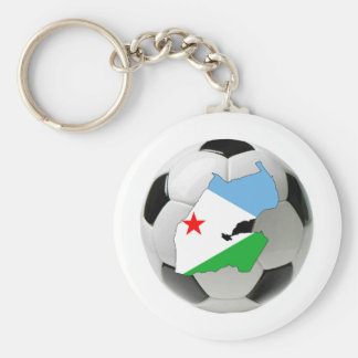 Djibouti national team basic round button key ring