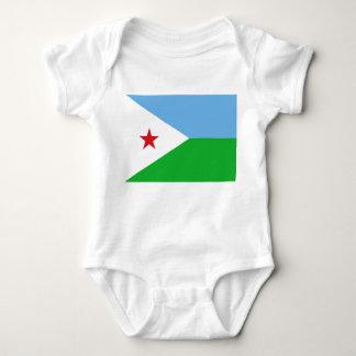 Djibouti National World Flag Baby Bodysuit