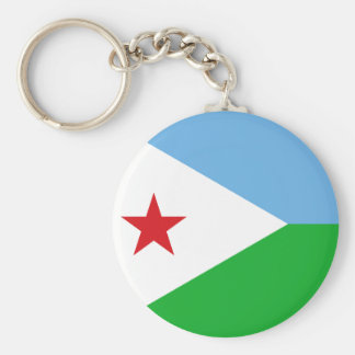 Djibouti National World Flag Key Ring